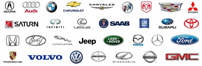 Automobile Makes / Models We Repair Brakes, Steering and Suspension On